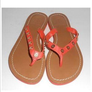 Tory Burch Flip Flop Sandals Orange Size 7